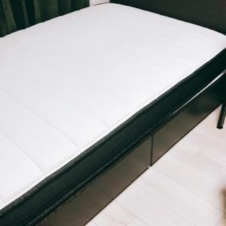 ニトリN-sleep Hard セミダブルベッド+引出し付きベッド...