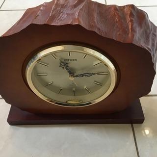 カエデ材、CITIZEN置き時計、故障