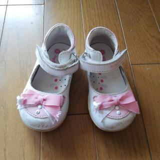 13センチ革の靴