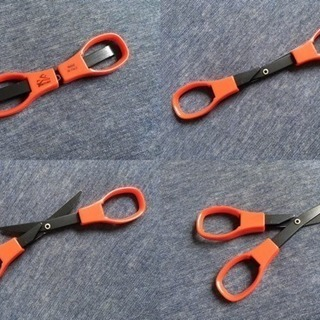 【未使用】折りたたみ式で便利なハサミ(ビニールケース付)