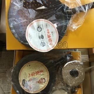 魚菜学園北京鍋&油切り鍋、油こし器、中華鍋専用長いおたま、セット