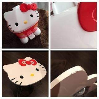 キティ ゴミ箱 ミニテーブル セット