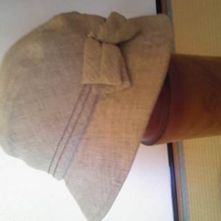夏向け薄いべいじゅ色の帽子・56cm
