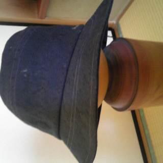 夏向け黒の帽子・54.5cm