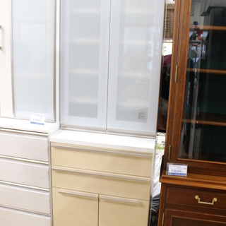 J032)ニトリ NITORI スリム食器棚 シェモア60DB ...