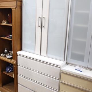 J033)ニトリ NITORI 食器棚 ボスティア 幅80cm
