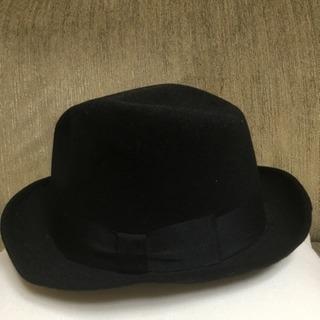 美品  黒の帽子