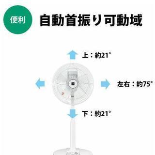 シャープ プラズマクラスター扇風機 空気浄化・消臭 風量3段階(リズム風あり) リモコン付き ホワイト 2017 - 家電