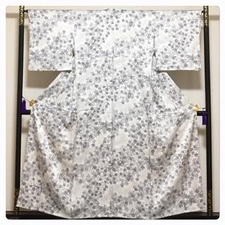 美品 身丈155 裄65 正絹 極上 単衣仕立て 小紋 クリー...