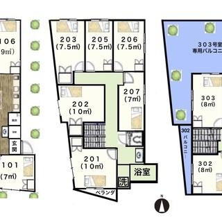防音!駅2分!渋谷 新宿 池袋30分圏内!安心の女性限定・鍵付き個室に家具家電付! 全部屋収納もあって4.5〜6畳!オシャレなリノベーションプライベート重視ハウス♪ - 不動産