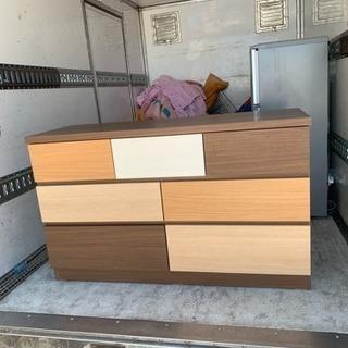 ニトリ 木製チェスト 3段ローチェスト