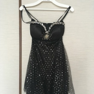 【Dress Black】ブラックラメ ドレス&パニエセット