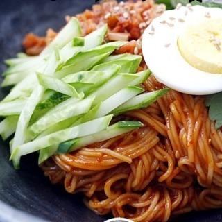 6月1日韓国料理交流会、ビビン麺、カムジャジョン(じゃがいもチヂミ)