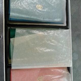 未使用 昭和の牛革 三本 キーケース