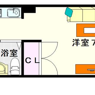 【クイーンズマンション元町】5号タイプ!1Rタイプ!洗濯機が室内...