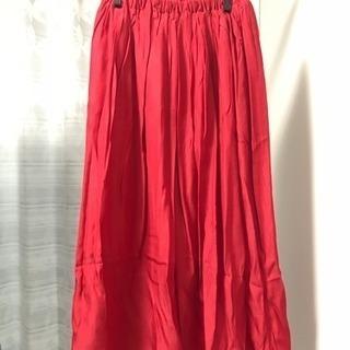 値下  新品 natural couture 赤 レッド ロング...