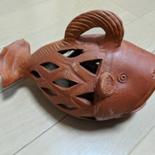 大幅値下げ‼ Baliの職人さんの素焼きの魚のお香焚き 蚊取り...