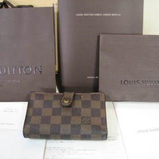 【値下げ】ルイヴィトン ダミエ二つ折財布 がま口 11,900円
