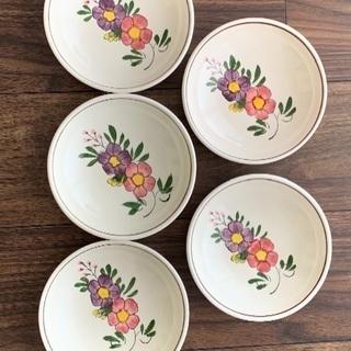 5枚組 花柄丸皿