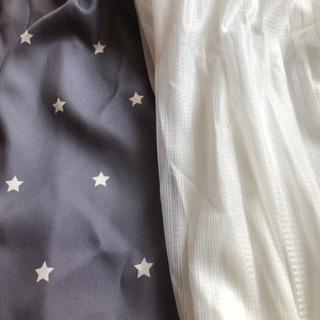 グレーの星柄 カーテン