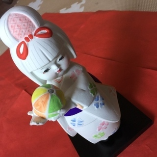 【ネット決済・配送可】鮮やかな真っ白の 博多人形 はくせん 御栞...