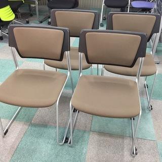中古 プラス PLUS スタッキングチェアー 会議椅子 ミーティン...