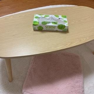 ニトリ 折りたたみテーブル ナチュラル
