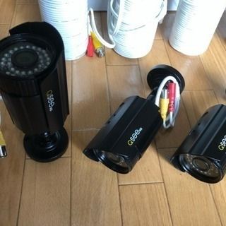 監視カメラ4台とHDDレコーダセット - 家電