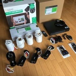 監視カメラ4台とHDDレコーダセット - 千歳市