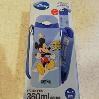 お値下げ!!→ストロー型水筒(スペア付) ミッキーマウス