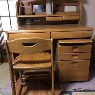 勉強机 椅子 サイドボード付