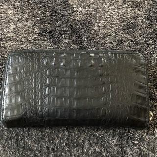 ワニ皮長財布(黒)値下げ2000→1500