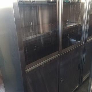 厨房機器 サンウェーブ ステンレス食器棚 幅120cm 収…