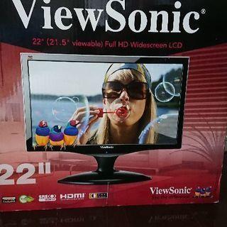 【大幅値下げ】PCモニター(22インチ) ViewSonic V...