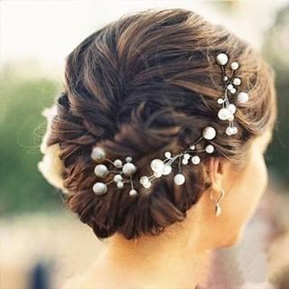 髪飾り ヘアアクセサリー ウェディング パール ヘアピン ヘッドドレス