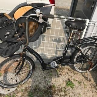 中古自転車、最終値下げ!子供の座席が前にあります。難あり