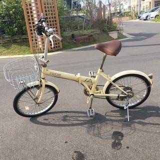 折り畳み自転車 6段ギア付 20インチ