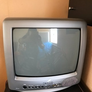 【ジャンク?】無料!MITSUBISHIブラウン管テレビ14型