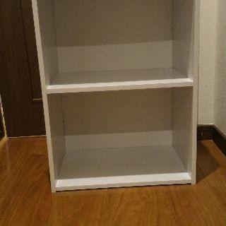 白カラーBOX 2段