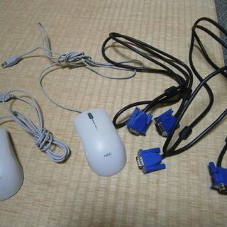 アナログディスプレイケーブル2本+マウス2個/切手プラレール等可/...