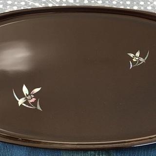 新品 小判盆 天然木 菖蒲 48.5×25cm 富山県 楕円形