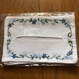 未開封 ベトナム製 手刺繍 花柄 ティッシュ ケース