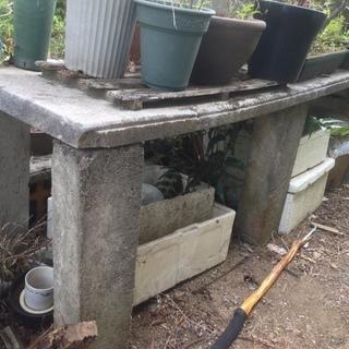 植木台 さつき 皐月 植物 テーブル ブロック コンクリート レンガ