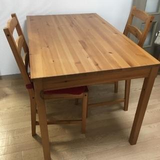 IKEA ダイニングテーブル 椅子2脚