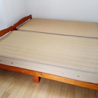 【無料】シングルベッド×2 IKEAチェア×2 スチールラック×...