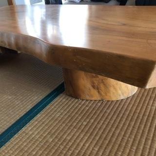 一枚板のテーブル(座卓)30000円