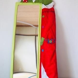 【最終値下げ!】IKEA ミラー 姿見 鏡 子ども部屋 割れない...