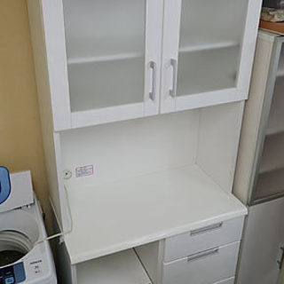 ニトリ キッチンボード DAHLIA-80KB-WH 白い食器棚...