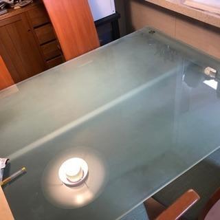 5/18 ガラス ダイニング テーブル チェア セット paksn...