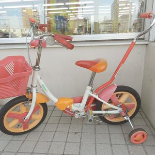 子供自転車 14インチ 赤/オレンジ 【ides】  KIDS ☆...